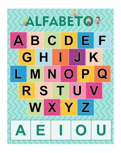 banner alfabeto - tamanho 45x35cm