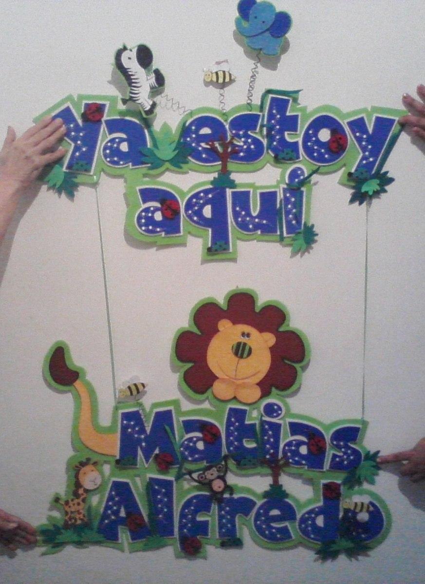 Banner carteles afiches nombres bb cl nica cuarto - Carteles para puertas habitaciones ...