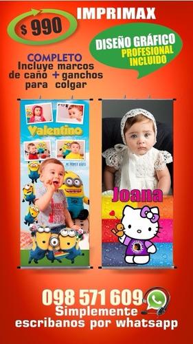 banner c/soporte/ impresion en lona / cumpleaños boda / 15