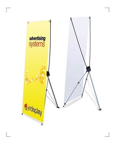 banner de aluminio con lona y bolsa porta banner 60x160cm