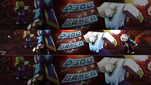 banner e thumbnai-simples e avançada de minecraft