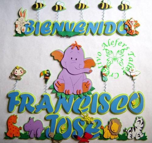 banner (letreros, carteles, bienvenidos, nombres) en foami