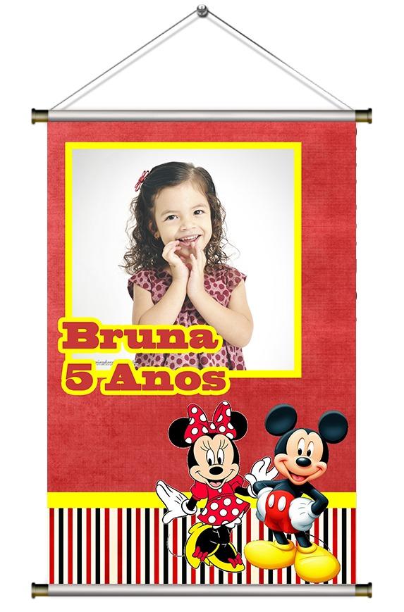 872743220b Banner Personalizado Festa Infantil Mickey Disney - R  35