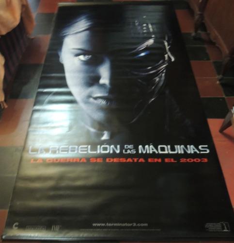 banner poster de terminator 3 la rebelión de las máquinas