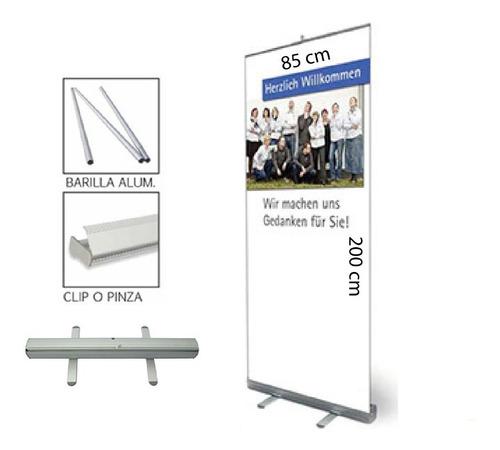 banner publicitario roll up 85x200cm c/bolsa p/transportar
