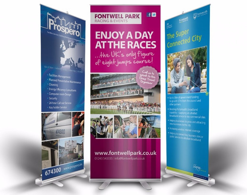 banner roll screen up con impresion 150x2 mts oferta!!
