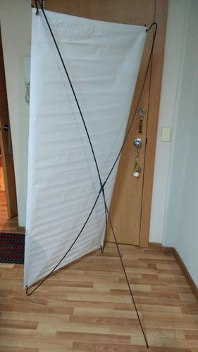 banner x acero de 80x180 cm para lona o tela sublimada