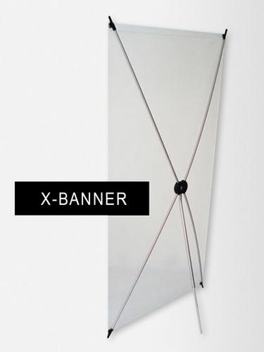 banner x aluminio 80x180 cm para lona o tela sublimada