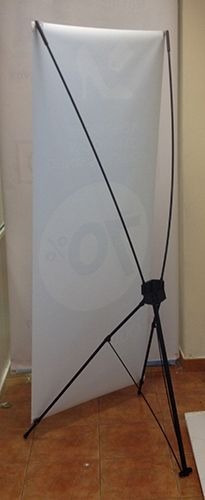 banner x reforzado de 80x180 cm para lona o tela sublimada
