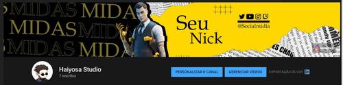 banner youtube fortinite - capa youtube profissional gamer