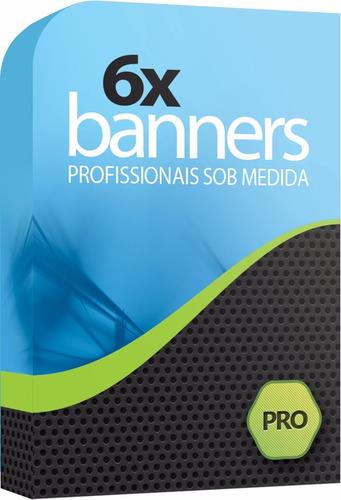 banners profissionais para lojas virtuais e sites - 6 un