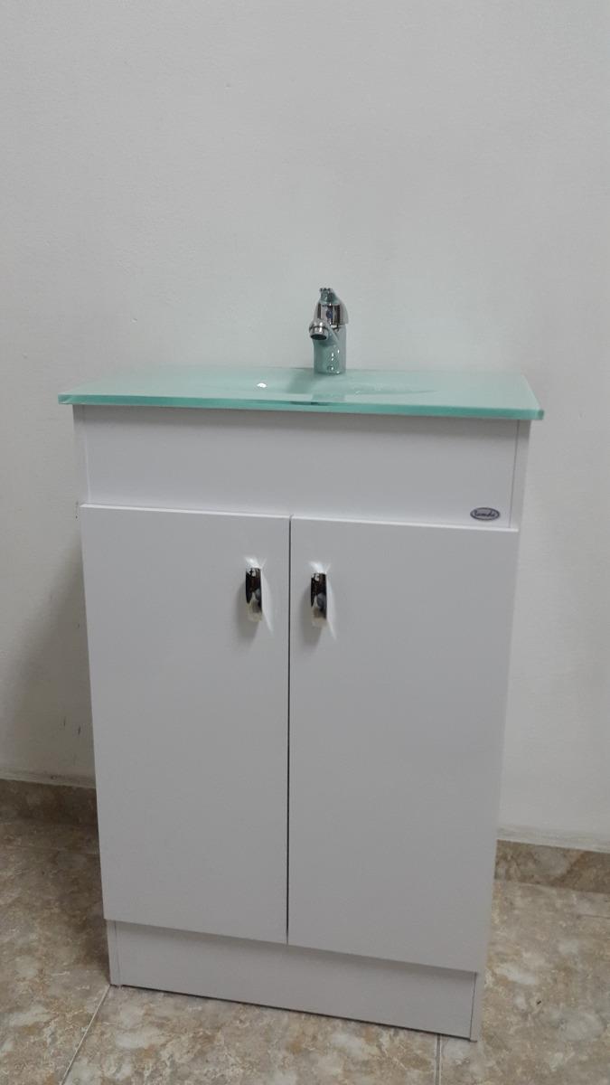 Mueble para ba o bacha en color verde botella 50x35 cm for Griferia pileta bano