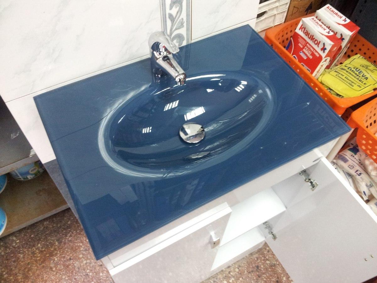 Oferta mueble para ba o bacha azul 60x40 cm for Piletas para bano