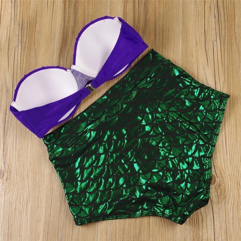 9fc1efe71 Cargando zoom... traje de baño bikini cintura alta la sirenita concha retro