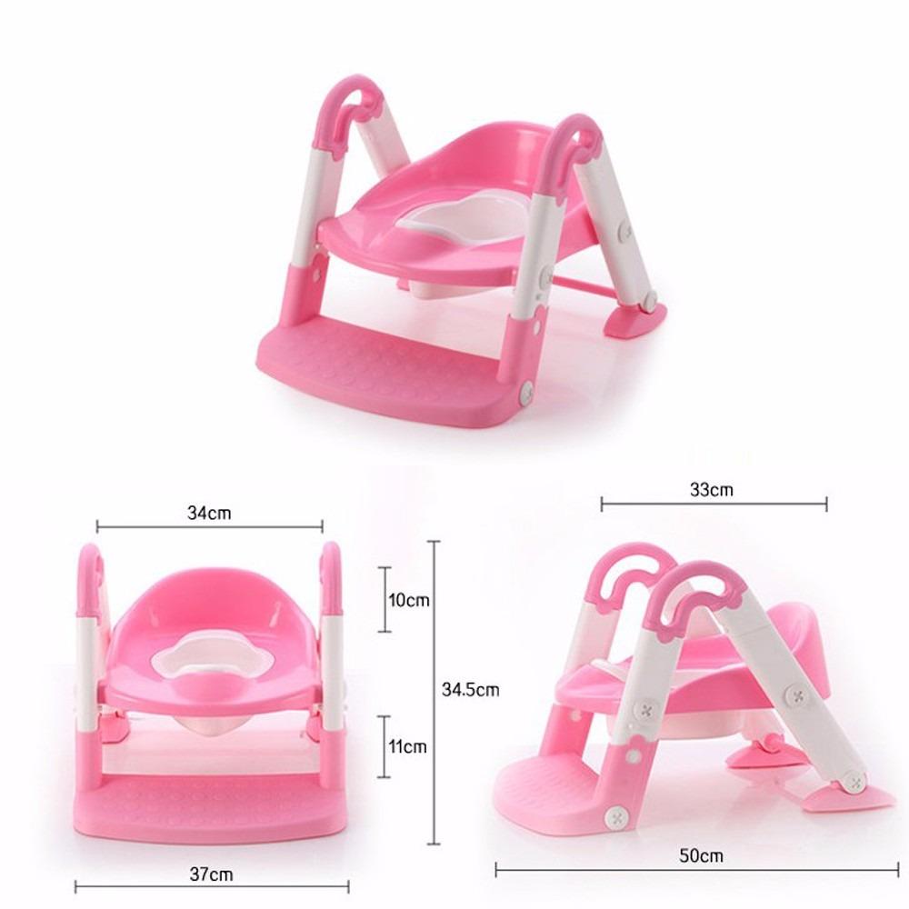 Decoracion Baño Rosado:baño entrenador ir al baño niñas silla bacenilla rosado
