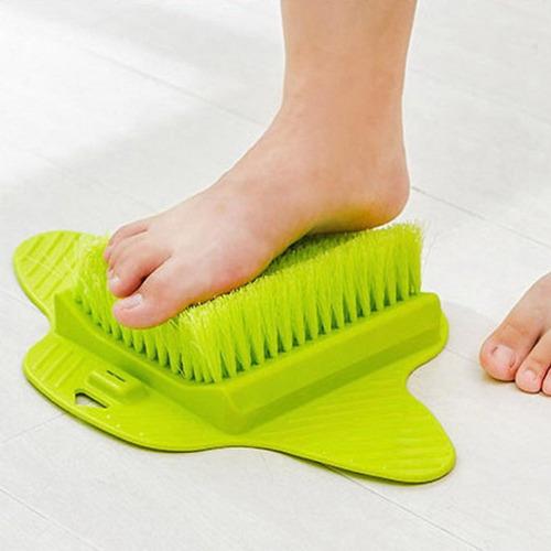 baño flor pie cepillo exfoliante pies fregadora lavadora spa