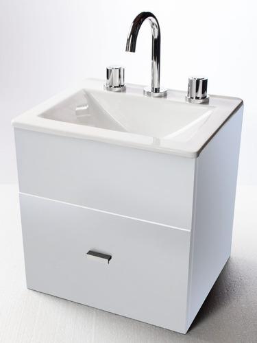 baño inodoro oniro mochila vanitory blanco 40 cm esp- cuotas