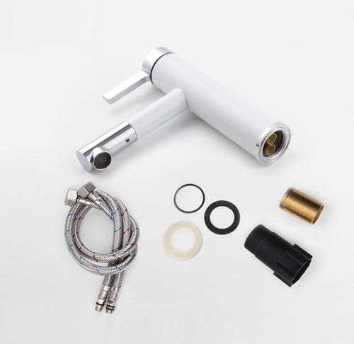 Llave mezcladora monomando grifo ba o lavabo blanco o for Llave monomando bano