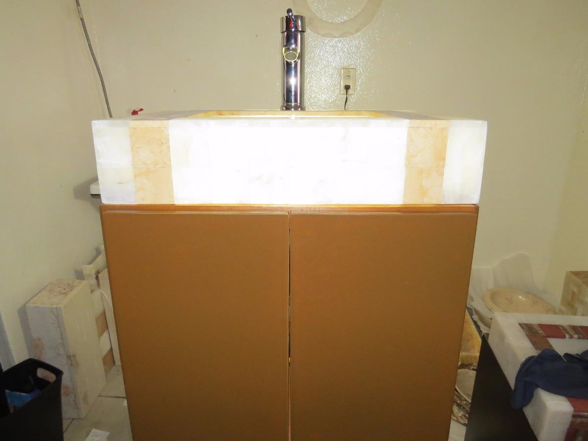 Mueble ba o lavabo minimalista onix m rmol oferta for Oferta mueble lavabo