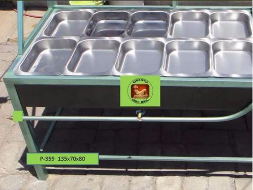 baño maria 10 cuadrilongos para 2 kilos p-359 grupochacmool