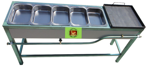 baño maria 3 en 1 estufa con plancha de 40x40  p355