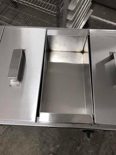 baño maría boquero a gas 6 tapas c/base acero