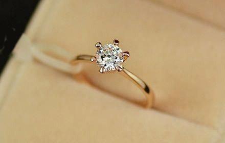 baño oro dorado 18k - anillos de compromiso plata