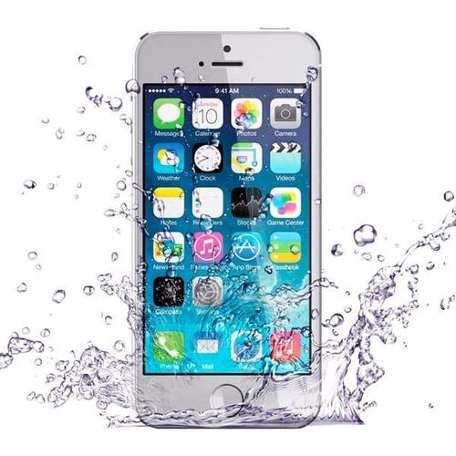 baño químico para iphone mojados