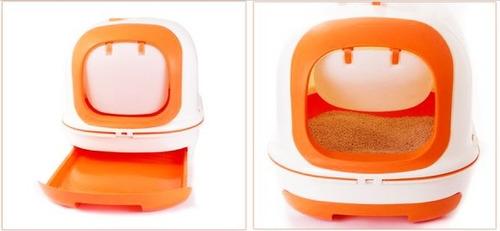 baño sanitario gatos arenero caja de arena grande litera