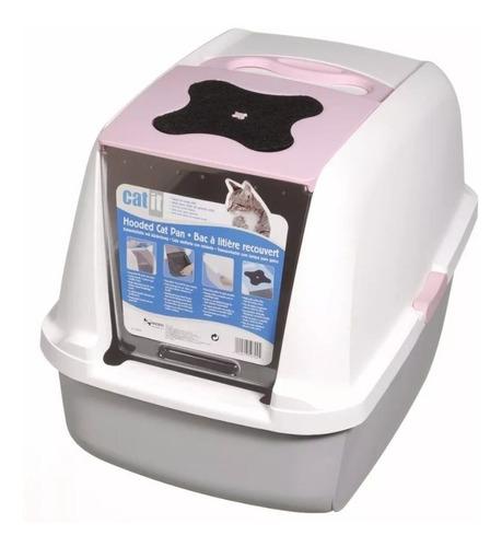 baño sanitario para gato gris 56x39x38,50cm + envio