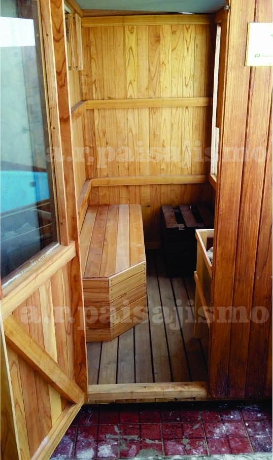 Bano Sauna Madera Completo Intemperie Con Calefactor 4kw O 6 - Sauna-madera