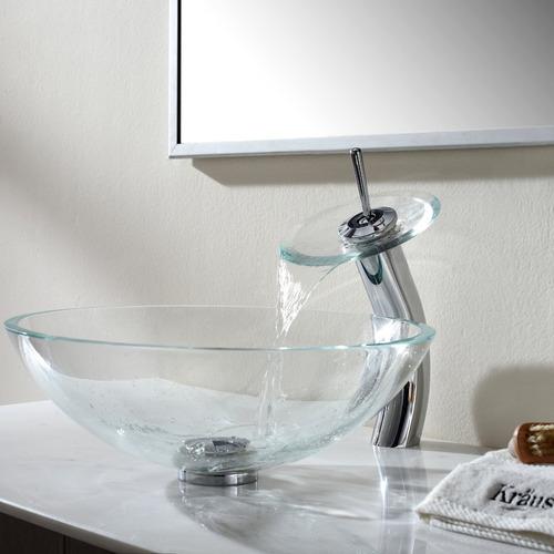 baño vidrio bacha