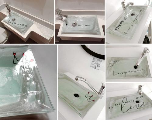 baño vidrio bachas