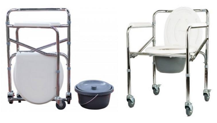 Ba o wc port til plegable con ruedas y apoyapies vita - Silla de ruedas de transferencia plegable y portatil ...