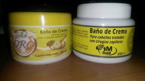 baños de crema brillo de oro 250 ml