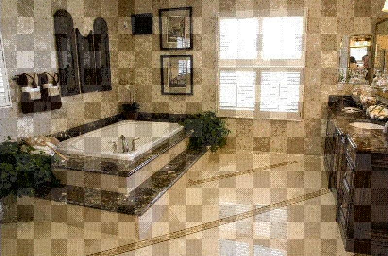 Ba os marmol para ba os pisos y acabados naturales - Marmol travertino para banos ...