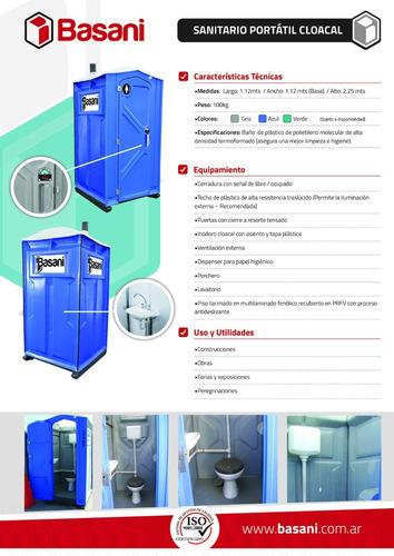 baños químicos portátiles - iso 9001:2008