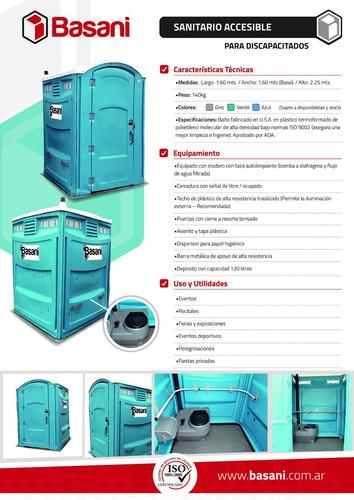 baños químicos portátiles - iso 9001:2015