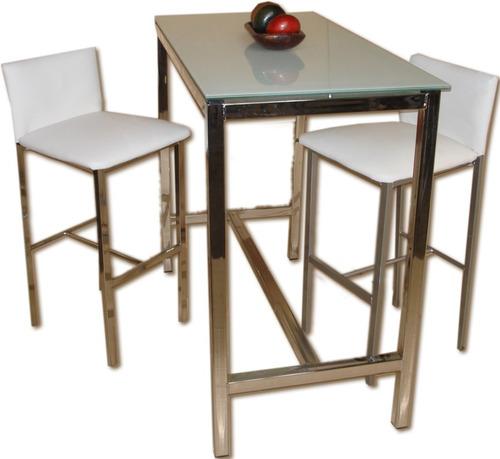 banqueta alta cajera taburete tapizado aluminio desayunador