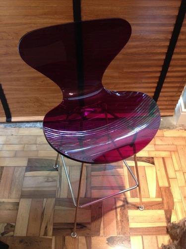 banqueta arne jacobsen em acrílico (móveis de design)