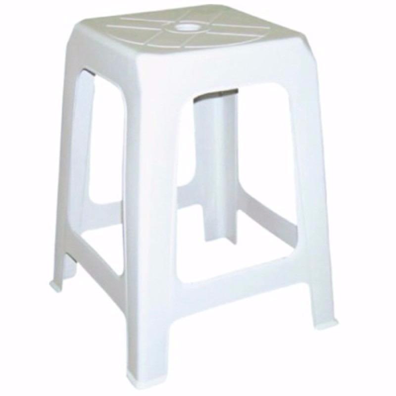 Banqueta assento plastico adulto serro baixa branco for Bancos de jardin de plastico