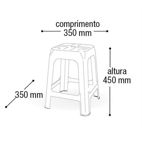 banqueta banco banquinho de plástico cadeira empilhavel para