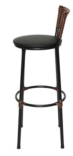 banqueta bistro cozinha egito fibra capuccino assento preto
