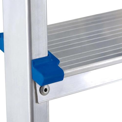 banqueta escalera aluminio mor 3 escalones pleglable - rex
