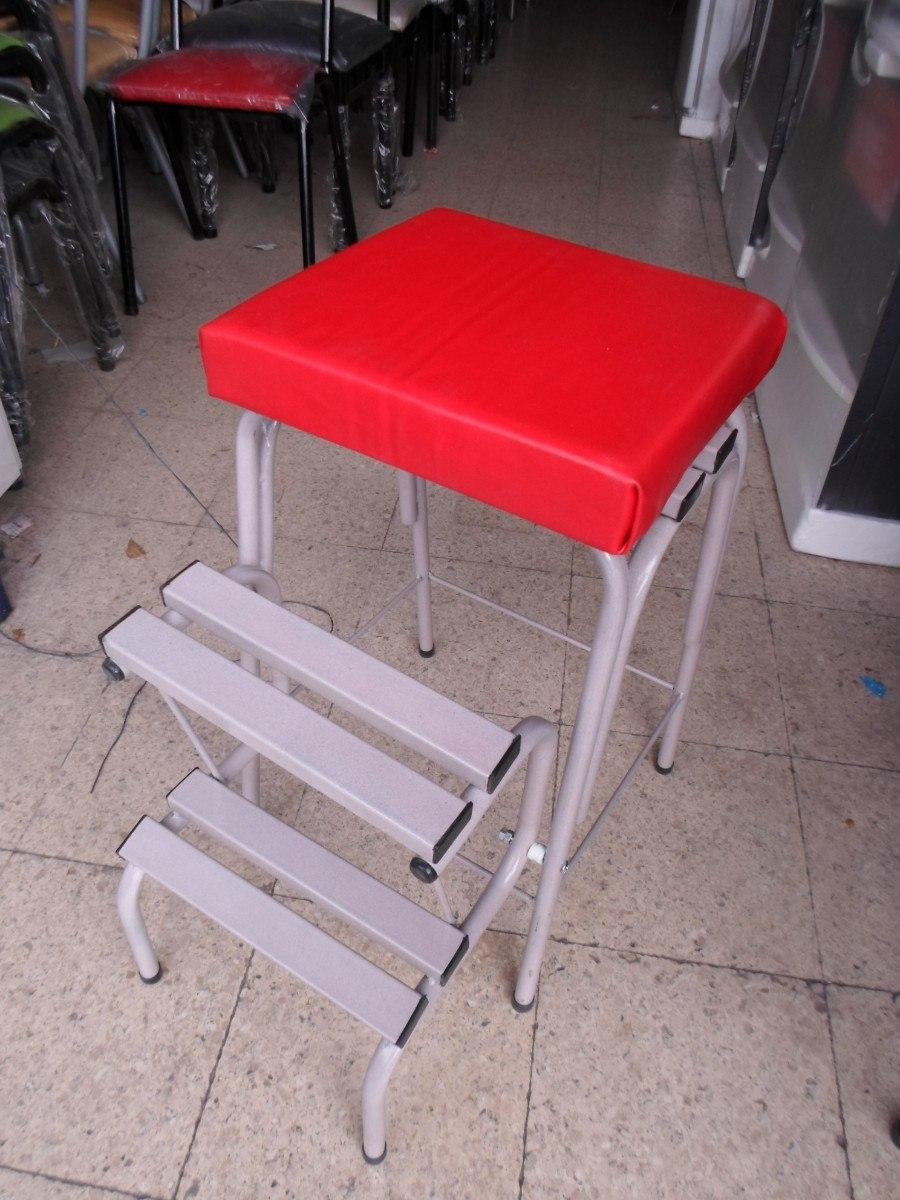 Banqueta Escalera Tapizada 599 00 En Mercado Libre # Muebles Faciles Liniers