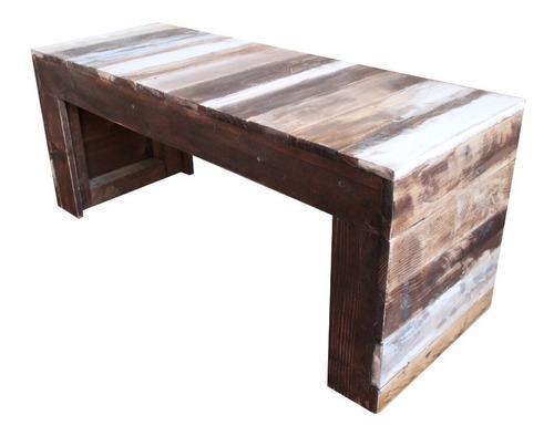 banqueta holanda 110x45x40 madera reciclada pantano pallet