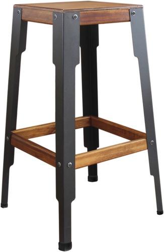 banqueta industrial alta bar cozinha madeira 71 x 40cm