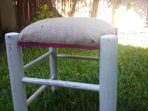 banqueta matera - banco madera restaurado