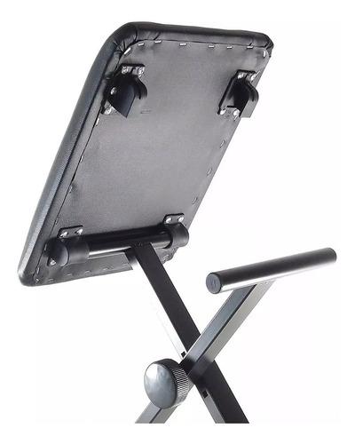 banqueta piano parquer altura regulable plegable y acolchada