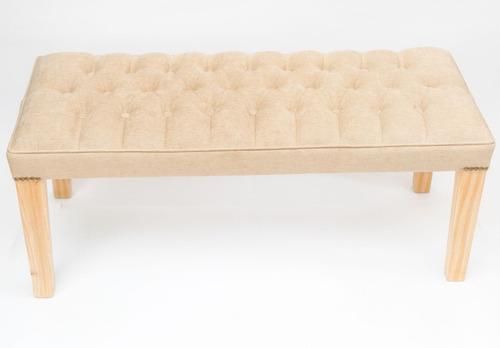 banqueta / pie de cama 1mt capitoné en pana. diseños únicos
